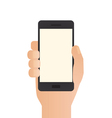 Hand Holding Phone vector image