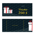 voucher with white gift box vector image