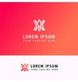 a v minimal letter logo concept line logo design vector image vector image