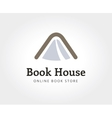 Abstract book house logo template for branding and vector image vector image