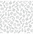 abstract seamless pattern germs virus and vector image vector image