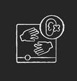 accessibility chalk white icon on black background
