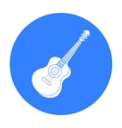 Acoustic guitar icon in black style isolated on vector image vector image