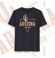 arizona state graphic t-shirt design typography vector image vector image