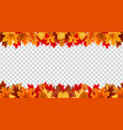 Autumn leaves border frame with space text o