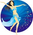 belly-dance woman vector image