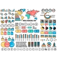 big business flat infographics and chart elementc vector image vector image