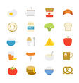 Breakfast Flat Icons color vector image vector image