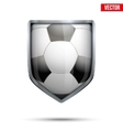 Bright shield in the football ball inside vector image vector image