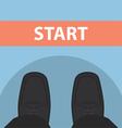 businessman feet in front start line vector image