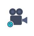 cam camera disable film movie no record icon vector image