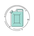 canister under petrol vector image vector image