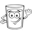 cartoon happy glass of liquid vector image vector image