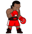 cartoon professional angry boxer in red gloves vector image