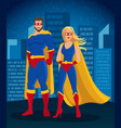 cartoon super heroes characters poster vector image vector image