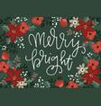 christmas greeting card invitation vector image vector image