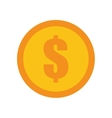 coin dollar money currency icon vector image