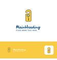 creative key tag logo design flat color logo vector image