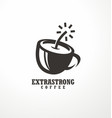 creative logo design idea for extra strong coffee vector image vector image