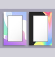 creative vertical frames with colorful stains set vector image vector image