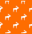 deer pattern seamless vector image vector image