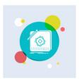 design app logo application design white glyph vector image vector image