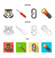 design of mountaineering and peak icon vector image vector image