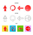 element and arrow symbol vector image