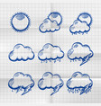 Exercise book collection clouds icon vector image