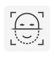 face scan icon vector image