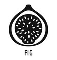 fig icon simple style vector image
