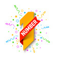 first number first winner champion number one vector image vector image
