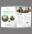 flyer corporate business annual report brochure vector image vector image