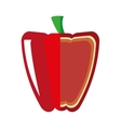 fresh pepper isolated icon design vector image vector image