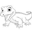 funny crocodile bacute vector image
