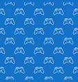 gamepad blue pattern controller seamless vector image vector image