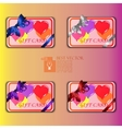 gift cards with multicolored balloons vector image vector image