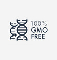gmo free label isolated on background vector image