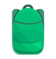 green modern backpack icon cartoon style vector image vector image