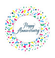 happy anniversary background vector image