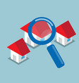 home searching with magnifying glass vector image