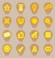 Idea symbol icons sticker on light bulb shape vector image