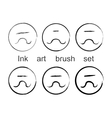 Ink art brush set vector image vector image