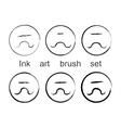Ink art brush set vector image