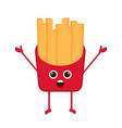 isolated happy french fries emote vector image