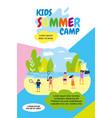 kids summer camp holidays vector image