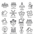leadership line icons on white background vector image vector image