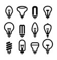 Light bulbs Bulb icon set 2 vector image