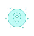 location basic icon design vector image vector image