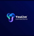 logo letter y gradient colorful style vector image
